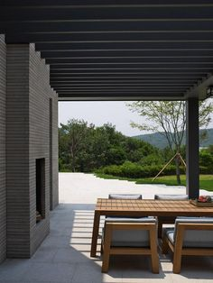 Pergola For Small Patio Outdoor Furniture Sets, Contemporary Kitchen Furniture, Contemporary Garden, Outdoor Living, Contemporary Stairs, Contemporary Decor, Modern Outdoor Dining Table, Garden Furniture, Outdoor Dining
