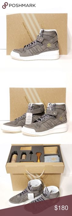 timeless design 212e0 b6586 Adidas Forum Hi Crafted with cleaning kit
