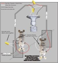 3-way switch diagram (power into light) | For the Home | Pinterest on 3 way light switch connectors, 3 way dimmer switch schematic, 3 way light switch installation, 3 way light switch instruction manual,
