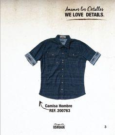 Camisa Hombre Ref: 200763 Talla: S-M-L-XL