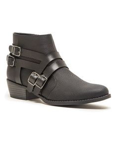 Love this Black Sochi Boot by Qupid on #zulily! #zulilyfinds