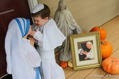 These children dressed as Pope John Paul II and Mother Teresa for this past All Saints Day! This picture has got to be one of the cutest things ever!
