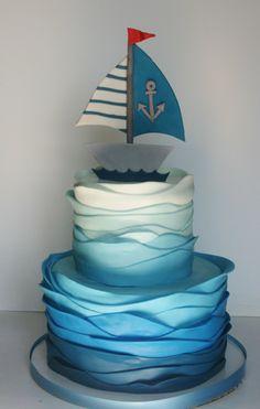 children's sea themed birthday cake