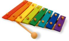 Vilac Baby Musical Toy Giant 12 Tone Xylophone by Vilac. $28.90. Large wooden xylophone with 12 notes. This musical instrument is one of the most popular with children around the world. Tap on it, it makes a sound . Tap on it again . It goes again and it's not the same sound. Great music is born. Crafted by Vilac whose toys are adored throughout the world. They are true heirlooms to last generations. Children will have hours of fun playing with this multi colored instrument.