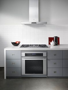 Modern Kitchen Gallery from the hood to the handles, these appliances fit this kitchen's