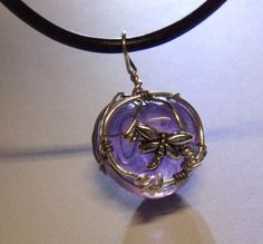 | Purple Dragonfly Pendant by ~fiety1 on deviantART
