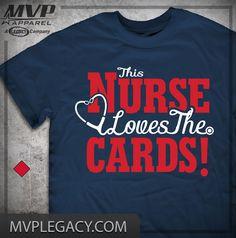 This NURSE Loves the CARDS T-shirt - Cardinals Tee for nurses - St. Louis Shirt