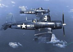 A pair of USN F4U Corsairs.