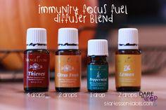 Autumn Diffuser Blends: Immunity Focus Fuel | Dare to Drop - Essential Oils #diffuser #youngliving #essentialoils