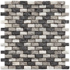 SomerTile 12x11.5-inch Griselda Subway 0.625x1.5-inch Charcoal Natural Stone Mosaic Tiles (Pack of 10) - Overstock™ Shopping - Big Discounts on Somertile Wall Tiles