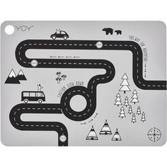 Set of 2 Adventure Placemats in Grey design by OYOY ($17) ❤ liked on Polyvore featuring home, kitchen & dining, table linens, grey table mats, circle placemats, gray placemats, gray table linens and grey table linens