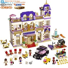 73.15$  Buy now - http://alip69.worldwells.pw/go.php?t=32757050162 - BELA 10547 Girl Series Heart Lake City Hotel Girl Friends Building Blocks Bricks Toys girl gift Compatible with 41101