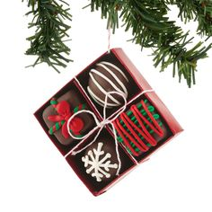 The Jolly Christmas Shop - Department 56 Box of Chocolates Christmas Ornament 4053019, $12.00 (https://www.thejollychristmasshop.com/department-56-box-of-chocolates-christmas-ornament-4053019/)