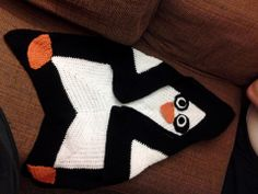 Adorable Penguin Star Blanket - what else could you make out of this?