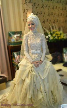 مدل لباس عروس با حجاب,لباس عروس محجبه,عکس عروس پوشیده