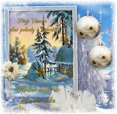 Přání vánoce « Rubrika   OBRÁZKY PRO VÁS Christmas Ornaments, Holiday Decor, Hana, Easter Activities, Christmas, Xmas Ornaments, Christmas Jewelry, Christmas Ornament, Christmas Baubles