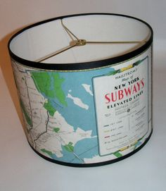 Vintage SUBWAY Map Lampshade!  oh, Paula dear, where are you???  LOL
