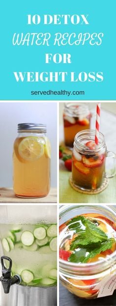 10 Detox Water Recipes For Weight Loss that are healthy and so tasty! Detox Drinks To Cleanse | Water Infused Recipes | Detox Recipes To Lose Weight And Burn Fat