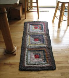 crocheted rug from elevensides