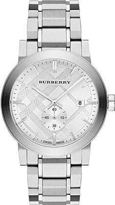 Burberry BU9900 42mm Silver Steel Bracelet & Case Anti-Reflective Sapphire Men's Watch Stainless steel case. Stainless steel bracelet. Silver dial. Swiss quartz movement. Sapphire crystal. Date. Water resistant 50 meters. Case 42mm. http://www.bestratewatches.com/burberry-bu9900-42mm-silver-steel-bracelet-case-anti-reflective-sapphire-mens-watch/
