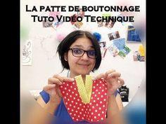 Tuto Technique de couture - La Patte de boutonnage Simple - YouTube