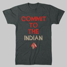 Commit To The Indian vintage Chicago Blackhawks T-Shirt. $19.99, via Etsy.