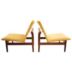 Pair of Finn Juhl Japan Chairs | From a unique collection of antique and modern lounge chairs at https://www.1stdibs.com/furniture/seating/lounge-chairs/