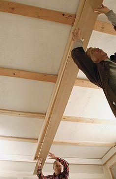 how to build coffered ceiling beams