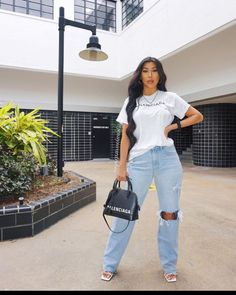 Simple Outfits, Classy Outfits, Casual Outfits, Cute Outfits, Fashion Outfits, Mode Ootd, Classy Casual, Spring Street Style, Wide Leg Jeans