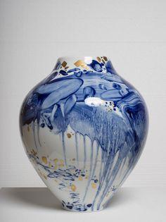 """wasbella102:  """" Vase No. 9: Chu Teh-Chun  """""""