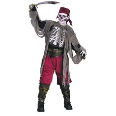 Buccaneer Bones Pirate Boys Halloween Costume