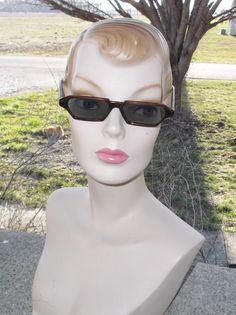 1960s Vintage Tortoiseshell Sunglasses Non by MyVintageHatShop