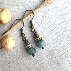 Chlorite quartz earrings  bohemian earrings by ArarekoJewelryWoman