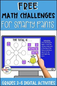 This resource is perfect to engage your students in interactive digital math challenges! It can be easily added to Google Classroom or Google Drive and used for distance learning! These challenges are rigorous and require students to use and review what they know to find solutions. They will use and deepen their problem-solving and reasoning skills. Classroom Freebies, Google Classroom, Math Classroom, Fun Math Activities, Math Games, Math Challenge, Math Problem Solving, Math Workshop, Free Math
