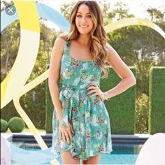 LC Lauren Conrad dress Never been worn. Very pretty floral print!! LC Lauren Conrad Dresses