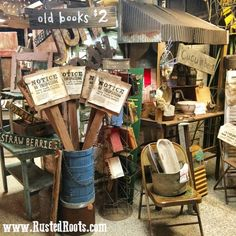 Rusted Roots Junk Shop VIDEO Tour: May 2016