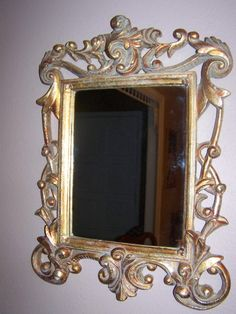 Baroque style wall ornate mirror by mypicketfencecottage on Etsy, $24.49