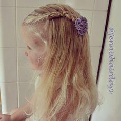 Lace braid. See more on Instagram @jennishairdays