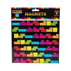 Agora você poderá decorar sua geladeira com os imãs do Tetris! Além de deixar sua geladeira super divertida, eles são úteis para guardar recados!