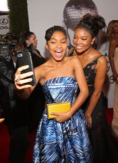 Pin for Later: 30 Photos From the NAACP Image Awards That You Need to See Now  Pictured: Gabrielle Union and Yara Shahidi