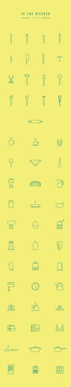 In The Kitchen – Free Icon Set by Wojciech Zasina