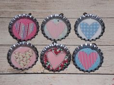 6 Assorted Primitive Whimsical Valentine's February by ChooseMoose