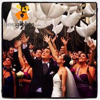 Globos Bio en forma de palomas, para crear en tu boda un momento mágico y especial. Dove Balloon. Wedding Balloon
