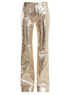 Wide-leg leather trousers | Chloé | MATCHESFASHION.COM US
