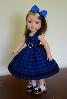 """""""Deep Ocean"""" Dress, Outfit, Clothes for American Girl Wellie Wishers…"""