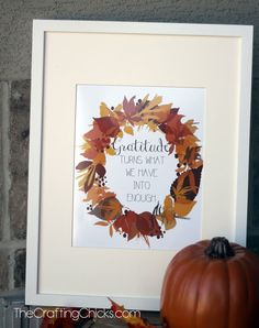 Fall Gratitude Printable from @craftingchicks #thanksgiving #leaves