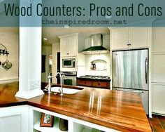 In spite of what everyone says, I'd really really like wood countertops on my counters - Ive picked out granite on my island.  Very informative article - and proof that this isn't such an absurd idea!