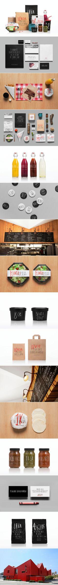 corporate branding design type packaging restaurant