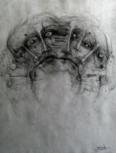 dark pencil drawings drawing sketches scary creepy horror inspiration pencils pixgood brian smith journal