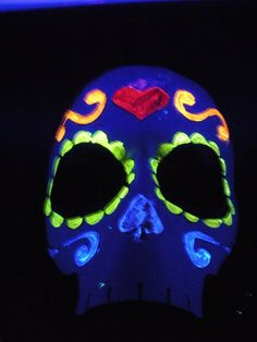 black light paint - calavera mask